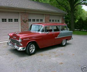 1955 Chevrolet Bel Air Beauville Station Wagon left front