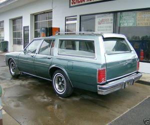 1981 Pontiac Bonneville Safari Station Wagon left rear