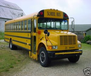 1994 International School Bus right front