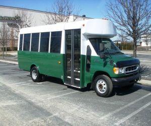 front of 1998 ford bluebird girardin e450 bus