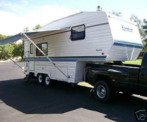 2000 THOR 24FS KOMFORT 5TH WHEEL TRAILER right front
