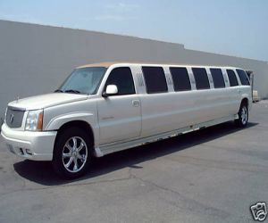 Exterior of the Cadillac Escalade stretch limo