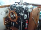 Wheel and gauges in Marinette boat