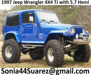 Image of a 1997 Jeep Wrangler 4X4 TJ SPORT