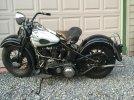 Image of a 1941 Harley Davidson Knucklehead FL